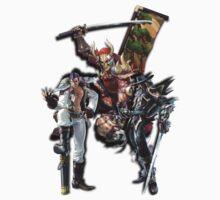 3 Character Tee 1 - Maxi, Raphael and Yoshimitsu by MrBliss4