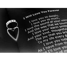Love you forever Photographic Print