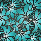 Wallpaper - leaves and swirls by Novi