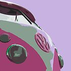 Sexy Pink VW Split iPad Case by Joe Stallard