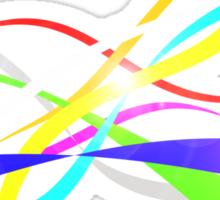 Color Nine Ribbon Sticker
