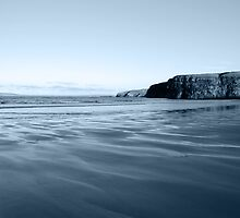 ballybunion beach on a cold grey day by morrbyte