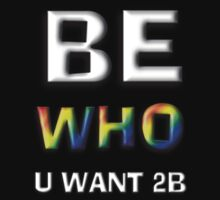 Be Who You Want To Be - Freedom Message: Discrete White by Swedos-Artistic
