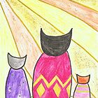 Sunrise Kitties by Sarah Evans