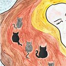 Kitties in ma hair by Sarah Evans