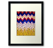 SHINE ON, Revisited - Americana Red White Blue USA Abstract Acrylic Painting Home Decor Xmas Gift Framed Print