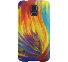 RAINBOW EXPLOSION - Vibrant Smile Happy Colorful Red Bright Blue Sunshine Yellow Abstract Painting  Samsung Galaxy Case/Skin