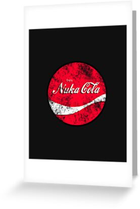 Enjoy Nuka Cola - Round - Vintage Distressed by HighDesign