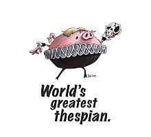 Hamlet - World's Greatest Thespian (Dark text) Photographic Print