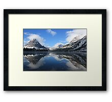 Two Medicine Lake After a Snowstorm Framed Print
