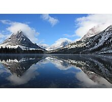 Two Medicine Lake After a Snowstorm Photographic Print