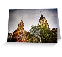Melbourne Architecture  Greeting Card