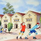 The rollerskaters by Jennifer Eurell