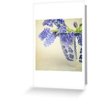Little china blue Greeting Card