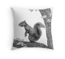 Mr Squirrel Throw Pillow