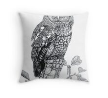 Tawny Owl (cropped version) Throw Pillow
