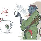 Krampus kids in a cup by Brandon Dawley