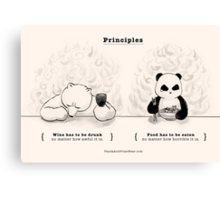 Principles Canvas Print