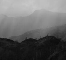 Yewdale Fells - Atmospheric Storm by rennaisance