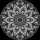 Black & White Kaleidoscope 13 by fantasytripp