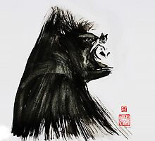 Portrait of a Lowland Gorilla-formatted for ipad case by Ray Cassel