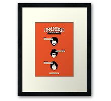 Bobs, ranked by hair neatness Framed Print