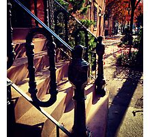 Waverly Place Long Shadows in the Fall Photographic Print