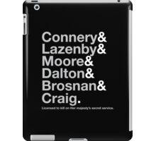 Bond Actor Jetset iPad Case/Skin