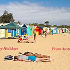 Happy Holidays. Brighton Beach  by Pauline Tims