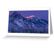 First Light at Snoqualmie Pass Greeting Card