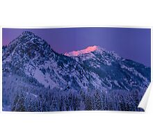 First Light at Snoqualmie Pass Poster
