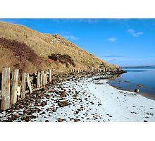 the cashen ballybunion in frozen landscape Photographic Print