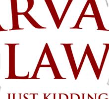 Harvard Law Sticker