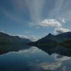 The Pap of Glencoe Reflected in Ballachulish Bay by cuilcreations