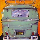 'Slopoke VW Bus' Volkswagen Type II by Kelly Telfer