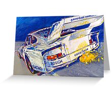 'Canepa Attacking the Corkscrew (935 Porsche)' Racing  Greeting Card