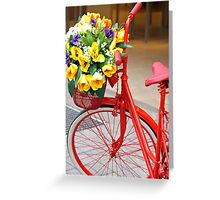 Decorated bicycle Greeting Card