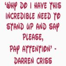 Darren Criss Human Quote by rachick123