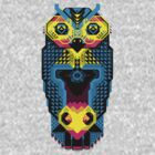 Pixel Owl by Freak Clothing