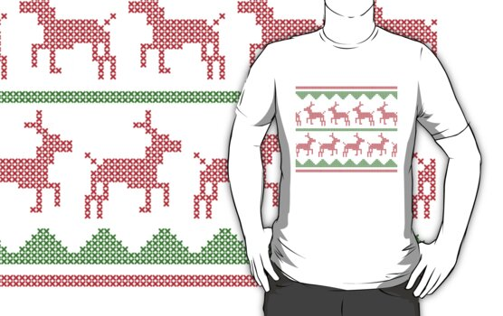 Christmas Sweater (Red and Green) by uncmfrtbleyeti
