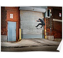 Marty Murawski - Frontside Flip - Chicago - Photo Bart Jones Poster