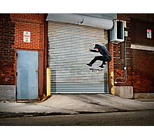 Marty Murawski - Frontside Flip - Chicago - Photo Bart Jones Photographic Print