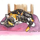 Ziggy the Calico by Lynn Oliver