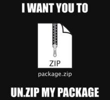 Un.Zip My Package T-Shirt
