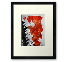red nude.... big breasted pose Framed Print
