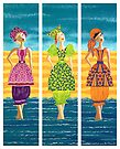Beach Bloomers ~ just old fashioned girls by Lisa Frances Judd ~ QuirkyHappyArt