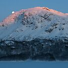 Sunset & moonrise in Valldalen by Algot Kristoffer Peterson