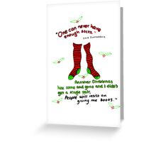 "Harry Potter Christmas Design - ""One can never have enough socks!"" Greeting Card"