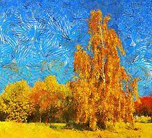 lonely birch by bogfl