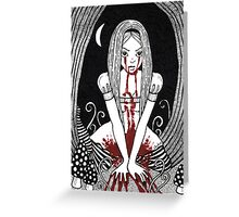 Blood Red Alice Tee Greeting Card